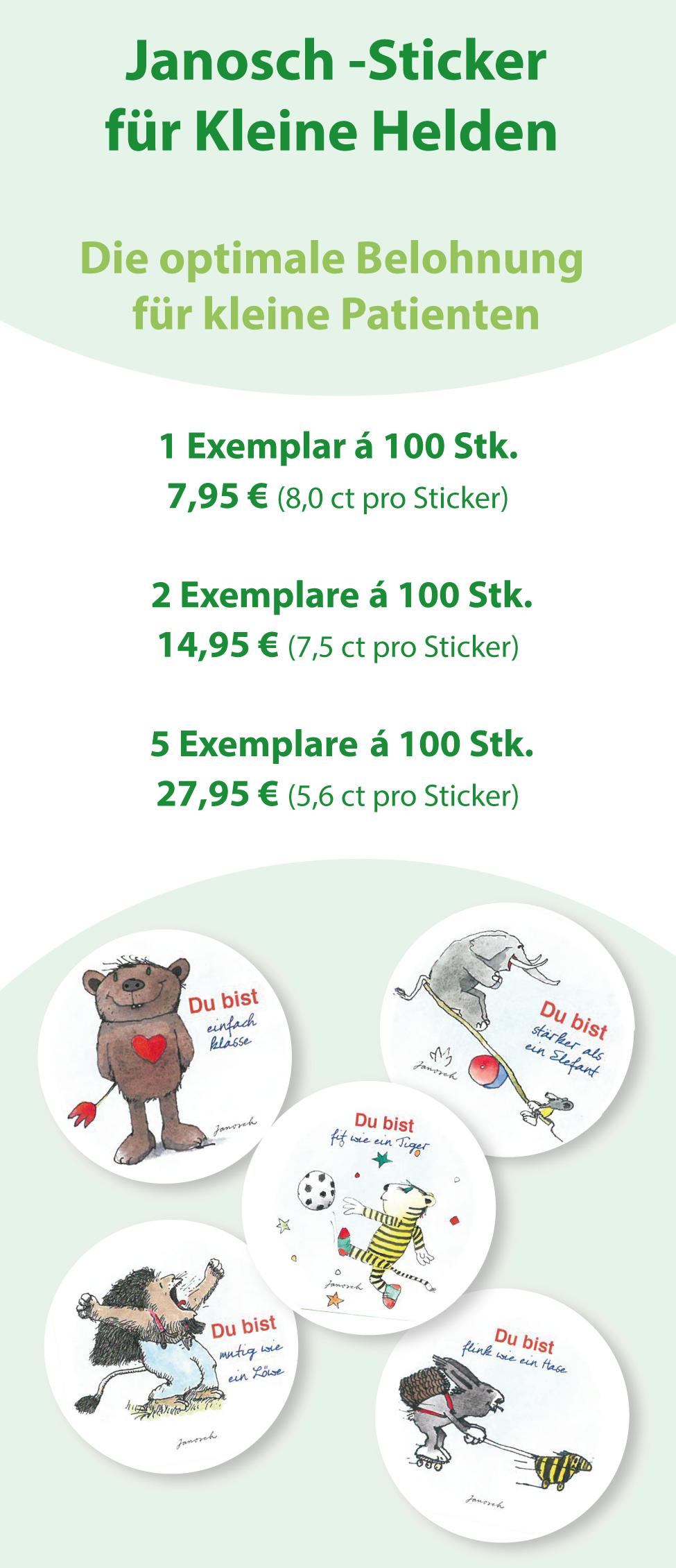 Janosch - Sticker für kleine Helden